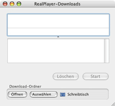 RealPlayer-Downloadfenster